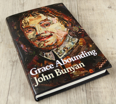 Danielle Vaughan's portrait on front of 'Grace Abounding' by John Milton