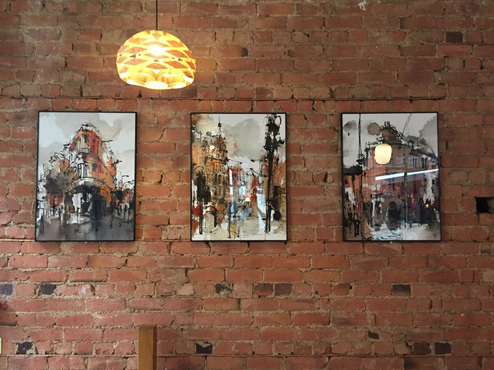 Emma Fitzpatrick prints at The Exchange Bar Leicester