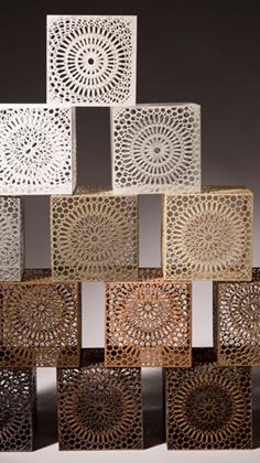 Thumbnail image of Sarah Jane Charlton, decorative cubes - Sarah Jane Charlton - Creativity In Cubes