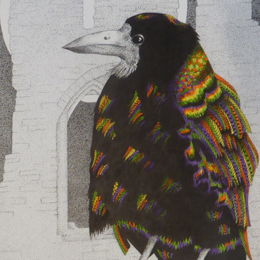 Sally Struszkowski painting (detail)