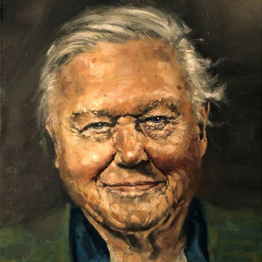 Kelvin Adams, 'David Attenborough' (detail)