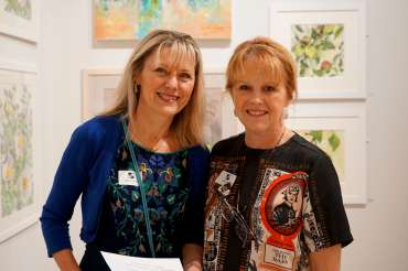 Thumbnail image of Hazel Crabtree and LSA Exhibitions Officer Deborah Bird - LSA Annual Exhibition - Preview Evening