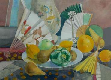 Thumbnail image of David Easton, 'Still Life with Fans' - Remembering David Easton RI