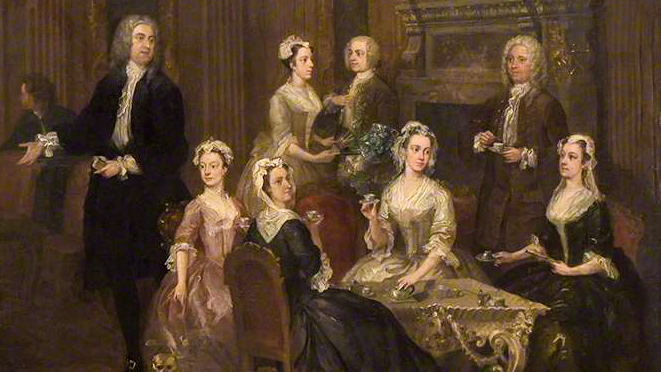 Detail of Hogarth's 'The Wollaston Family'