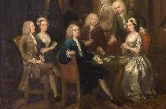 detail of Hogarth's Wollaston Family painting