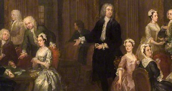 Hogarth, The Wollaston Family, details