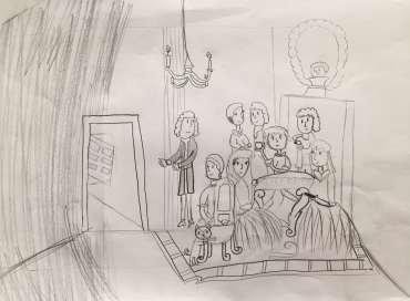 Thumbnail image of Winner -Child Prize:  Nina Izynrova - The Hogarth Sketching Competition - The Winners!
