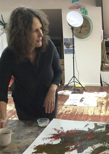 Jacqui Gallon in her studio