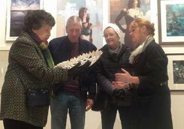 Thumbnail image of Deborah Bird explaining her paper sculptures - Meet the LSA Artists at New Walk Museum!