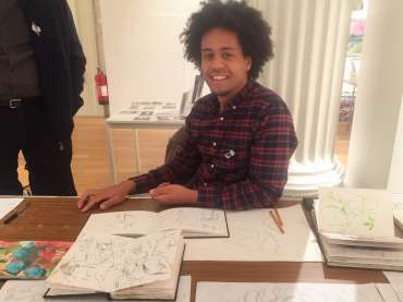Thumbnail image of Jarvis Brookfield with sketchbooks - Meet the LSA Artists at New Walk Museum!