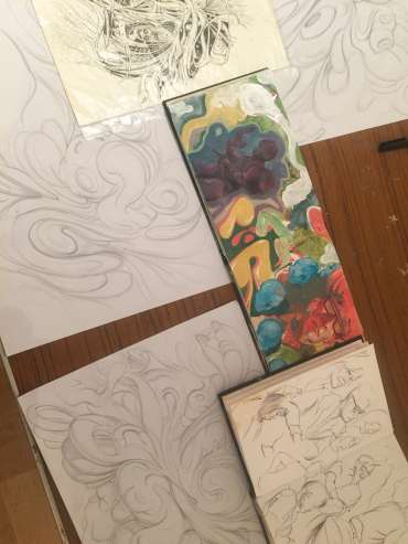 Thumbnail image of Jarvis Brookfield, sketchbooks and automatic drawings - Meet the LSA Artists at New Walk Museum!