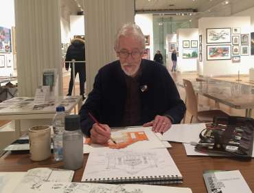 Thumbnail image of Robert Hewson painting in watercolour - Meet the LSA Artists at New Walk Museum!