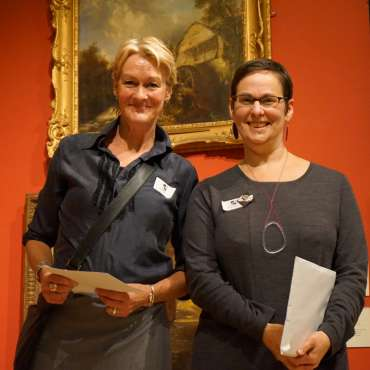 Thumbnail image of Winner of the George Pickard Prize, Jo McChesney with Ruth Singer - LSA Annual Exhibition - Preview Evening