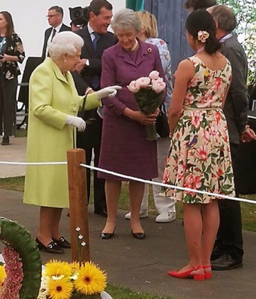 Siyuan Ren meets HM the Queen