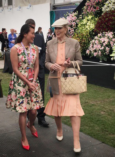 Siyuan Ren with Princess Michael of Kent at the Chelsea Flower Show 2019