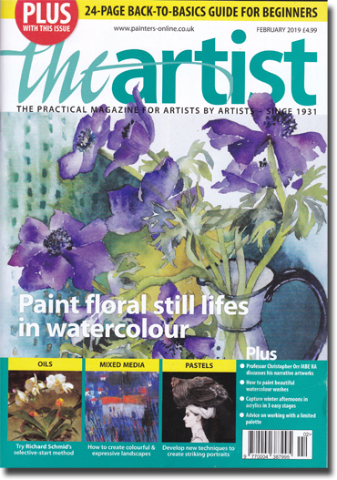 Front page of 'The Artist' February 2019
