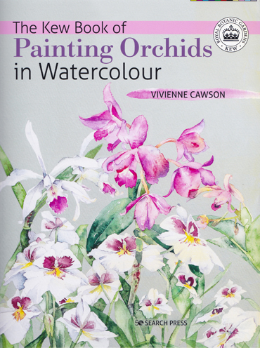 Viivenne Cawson, 'Painting Orchids in Watercolour' front cover